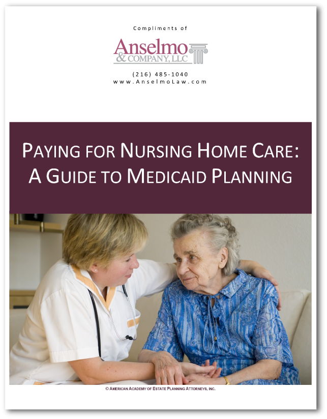 Paying for Nursing Home Care - A Guide to Medicaid Planning